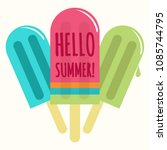 summer popsicle composition  ... | Shutterstock .eps vector #1085744795