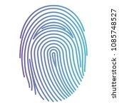 fingerprint access isolated icon | Shutterstock .eps vector #1085748527