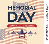 happy memorial day greeting card | Shutterstock .eps vector #1085751614