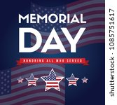 happy memorial day greeting card | Shutterstock .eps vector #1085751617