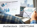 business man working and... | Shutterstock . vector #1085771444