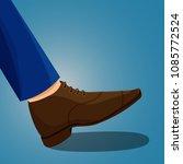 modern businessman leg in blue... | Shutterstock .eps vector #1085772524