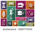 sewing and needlework icons in... | Shutterstock .eps vector #1085773454