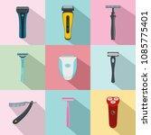 shaver blade razor personal... | Shutterstock .eps vector #1085775401
