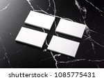 photo of white business cards... | Shutterstock . vector #1085775431