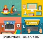 e learning online training... | Shutterstock .eps vector #1085775587