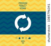 reset button  reload arrows   Shutterstock .eps vector #1085796341
