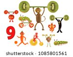 learning to count. cartoon...   Shutterstock . vector #1085801561