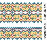 ethnic seamless border. hand... | Shutterstock .eps vector #1085802521