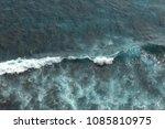top view of amazing waves in... | Shutterstock . vector #1085810975