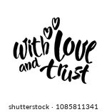 with love and trust card. hand... | Shutterstock .eps vector #1085811341