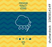 cloud thunderstorm lightning... | Shutterstock .eps vector #1085814149