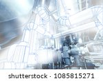 wireframe computer cad design... | Shutterstock . vector #1085815271