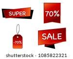 summer sale set isolated vector ...   Shutterstock .eps vector #1085822321