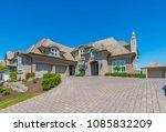 big custom made luxury house... | Shutterstock . vector #1085832209