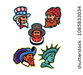 mascot icon illustration set of ... | Shutterstock .eps vector #1085833034