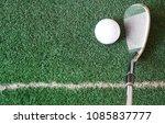 practice putting  swinging golf ...   Shutterstock . vector #1085837777