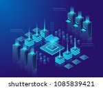 data center or cryptocurrency... | Shutterstock .eps vector #1085839421