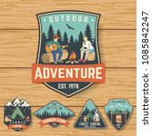 set of summer camp badges on... | Shutterstock .eps vector #1085842247
