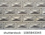 concrete wall with beautiful... | Shutterstock . vector #1085843345