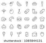 thin line icon set   sausage... | Shutterstock .eps vector #1085844131