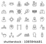 thin line icon set  ... | Shutterstock .eps vector #1085846681