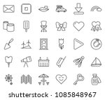 thin line icon set   office... | Shutterstock .eps vector #1085848967
