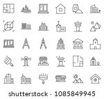 thin line icon set   bank... | Shutterstock .eps vector #1085849945