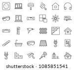 thin line icon set   mortgage... | Shutterstock .eps vector #1085851541