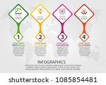 timeline modern vector... | Shutterstock .eps vector #1085854481