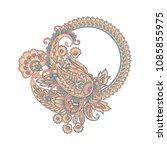 vector paisley pattern in... | Shutterstock .eps vector #1085855975