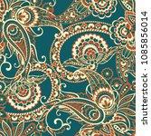 paisley vector seamless pattern.... | Shutterstock .eps vector #1085856014
