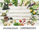 healthy raw summer vegan... | Shutterstock . vector #1085860334