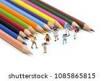 miniature people   children and ... | Shutterstock . vector #1085865815