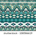 aztecs seamless pattern on cold ... | Shutterstock .eps vector #108586619