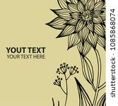 stylish vintage floral... | Shutterstock . vector #1085868074