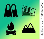 vector icon set about travel... | Shutterstock .eps vector #1085868665