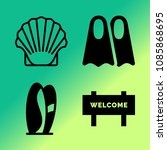 vector icon set about travel... | Shutterstock .eps vector #1085868695