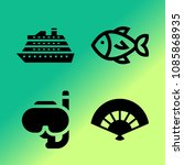 vector icon set about travel... | Shutterstock .eps vector #1085868935