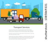 road transport and logistics ...   Shutterstock .eps vector #1085869331