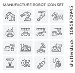 robot working with auto... | Shutterstock .eps vector #1085870945