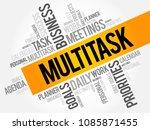 multitask word cloud  business...   Shutterstock . vector #1085871455