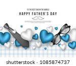 Fathers Day Greeting Card. 3d...