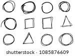 doodle vector circles ... | Shutterstock .eps vector #1085876609