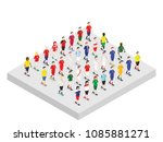 set of isometric football... | Shutterstock .eps vector #1085881271
