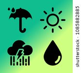 vector icon set about weather... | Shutterstock .eps vector #1085882885