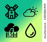 vector icon set about weather... | Shutterstock .eps vector #1085882909