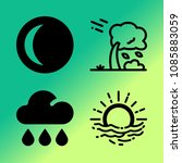 vector icon set about weather... | Shutterstock .eps vector #1085883059