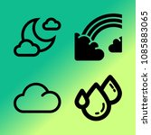 vector icon set about weather... | Shutterstock .eps vector #1085883065
