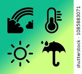 vector icon set about weather... | Shutterstock .eps vector #1085883071